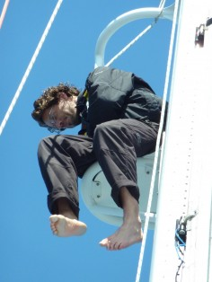 Antoine Assal in the crows' nest