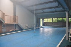 The swimming pool gets heated from the excess heat, how great is that?